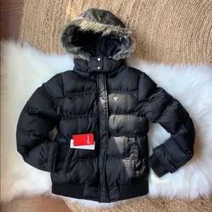 NWT GUESS Girls Puffer Coat size 7